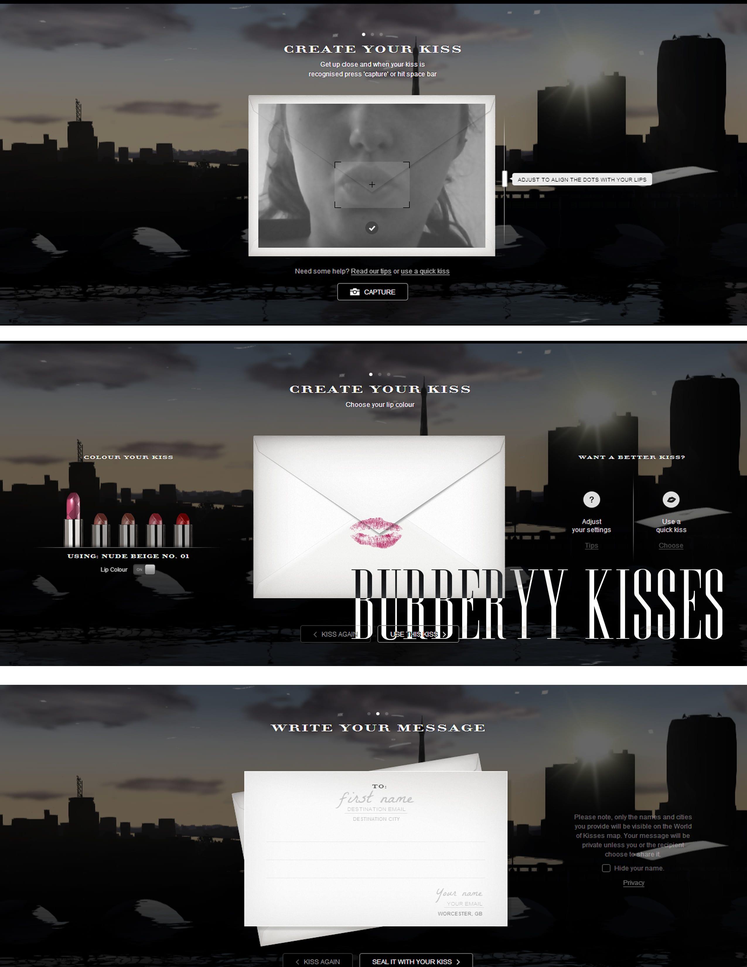Burberry kisses