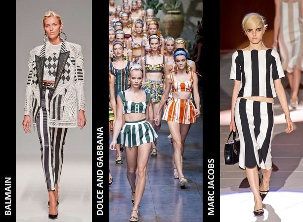 Vertical Stripes on the Catwalk