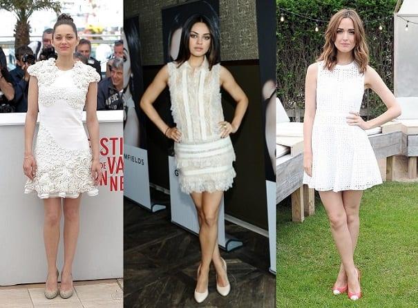 Marion Cottilard, Mila Kunis and Rose Byrne do the Luxe White Dress