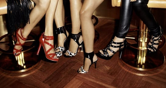 Jimmy Choo for H&M Ad Campaign - I managed to bag the studded beauties on the far right!