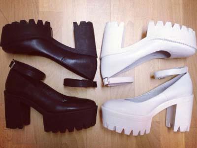Office Shoes Destroyer Cleated Heel Platform