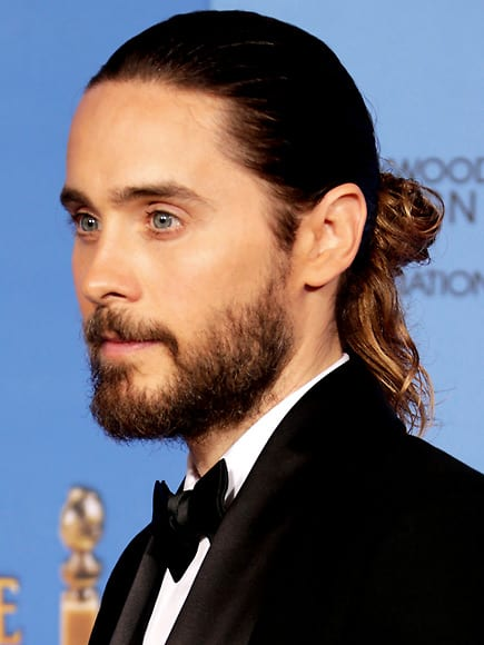 The perfect combination, Jared Leto with a man bun and a nicely trimmed beard