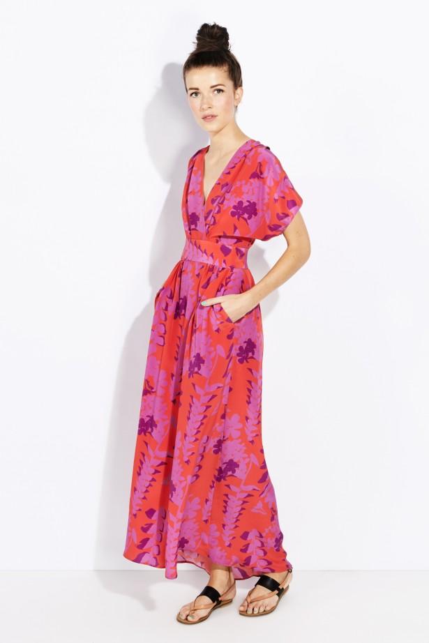 Number 22_Whit_Botanical Print Cinta Dress
