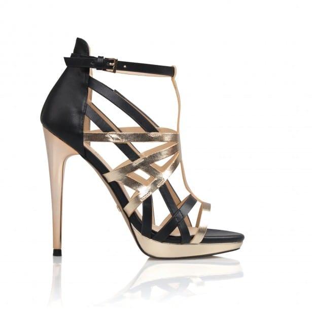 Kardashian Footwear @ BANK Fashion - Rochelle_Black_Gold_Metallic £65 MARCH