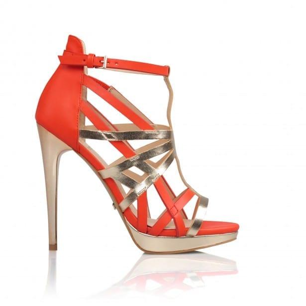 Kardashian Footwear @ BANK Fashion - Rochelle_Coral_Gold_Metallic £65 MARCH