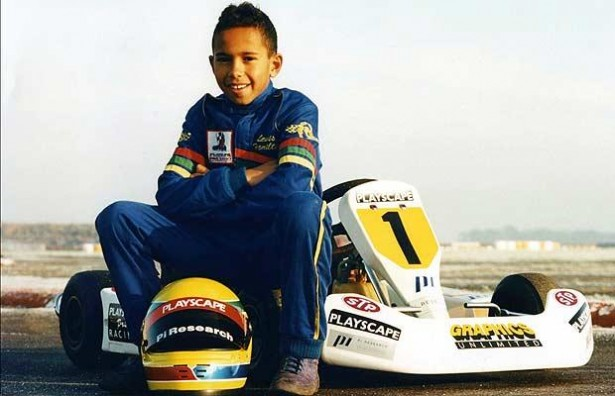 Young Lewis Hamilton
