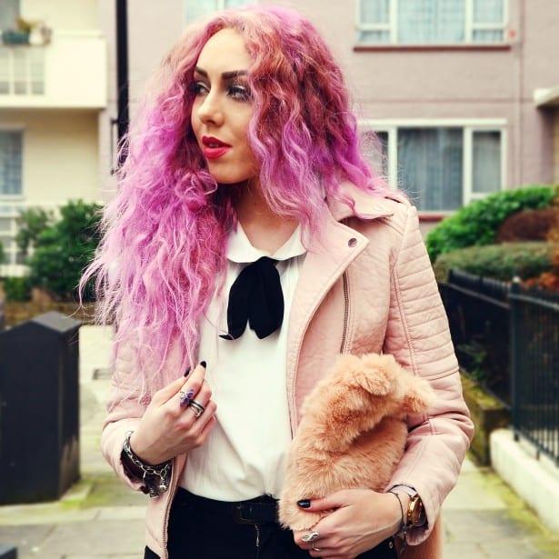 stephilareine-pink-leather-jacket-newlook-cat-bag