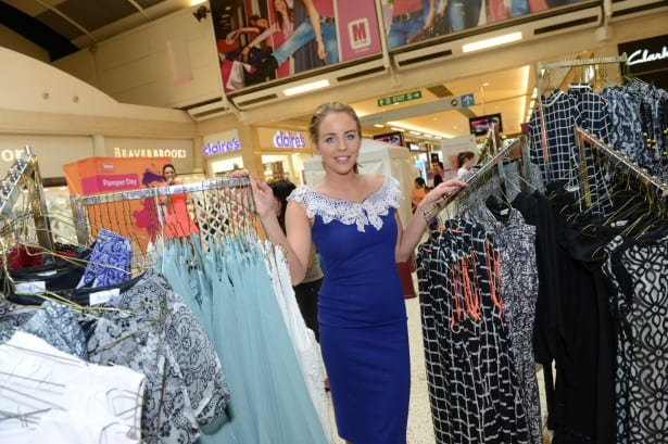 Lydia Bright at Pamper Day at The Mall, Luton