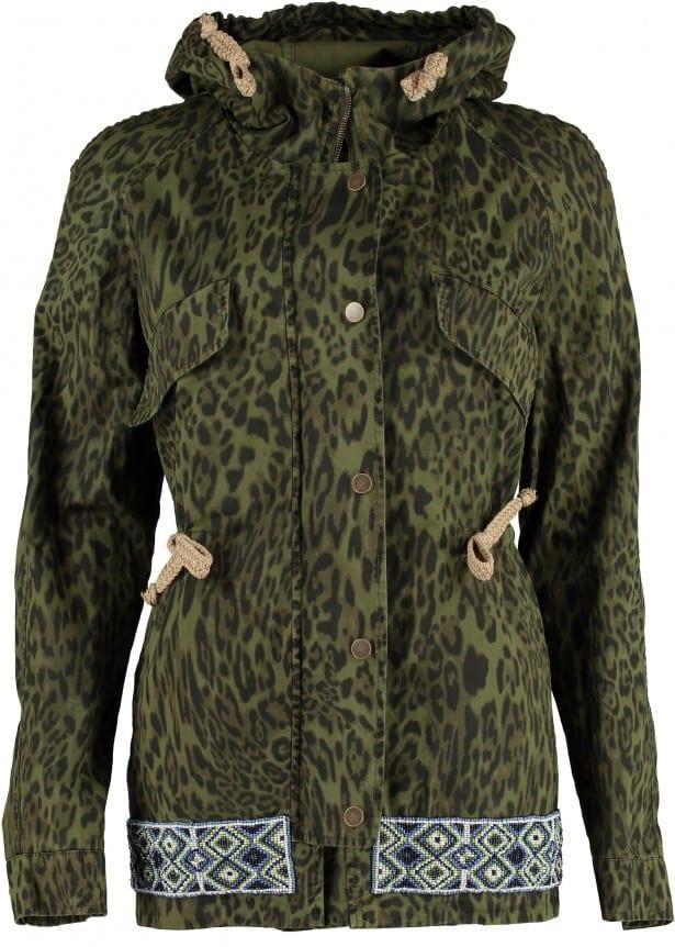 Green Leopard Parka