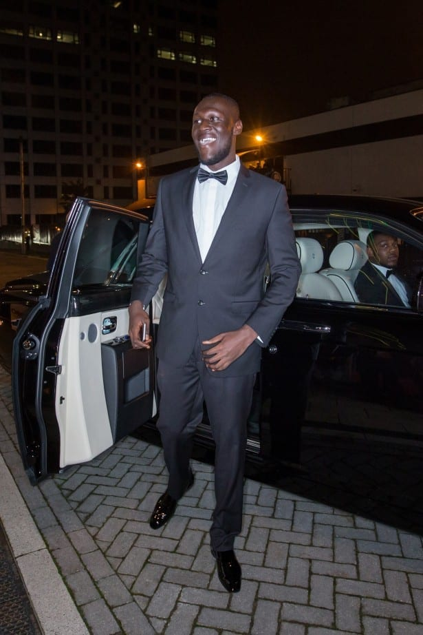 Ciaran McCrickard Photography - The 2015 Mobo Awards, First Direct Arena, Leeds - Grime artist Stormzy arrives at the MOBO Awards in a Phantom coutesty of Rolls-Royce