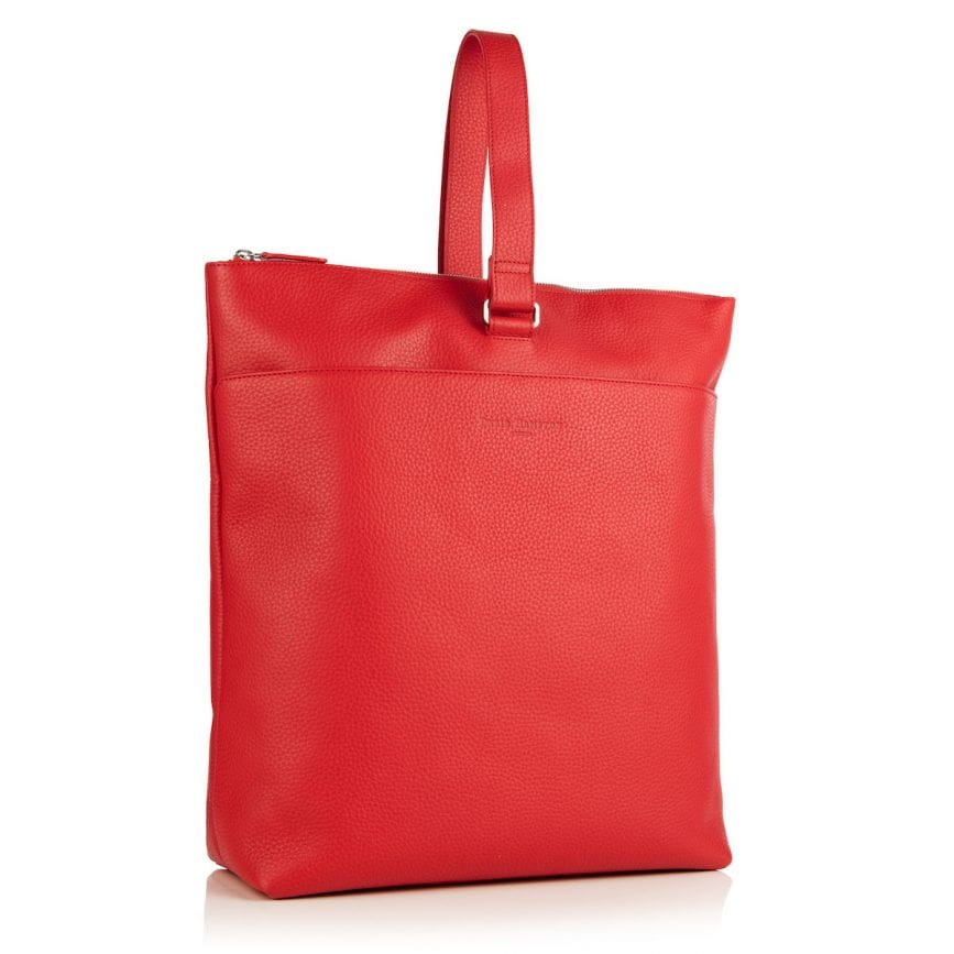 Molly Leather Backpack Red - £495