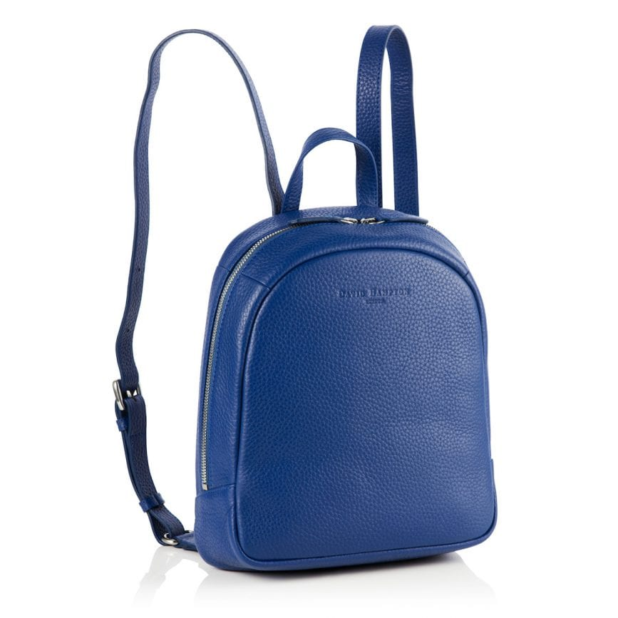 Poppy Leather Backpack Sapphire Blue - £240 -