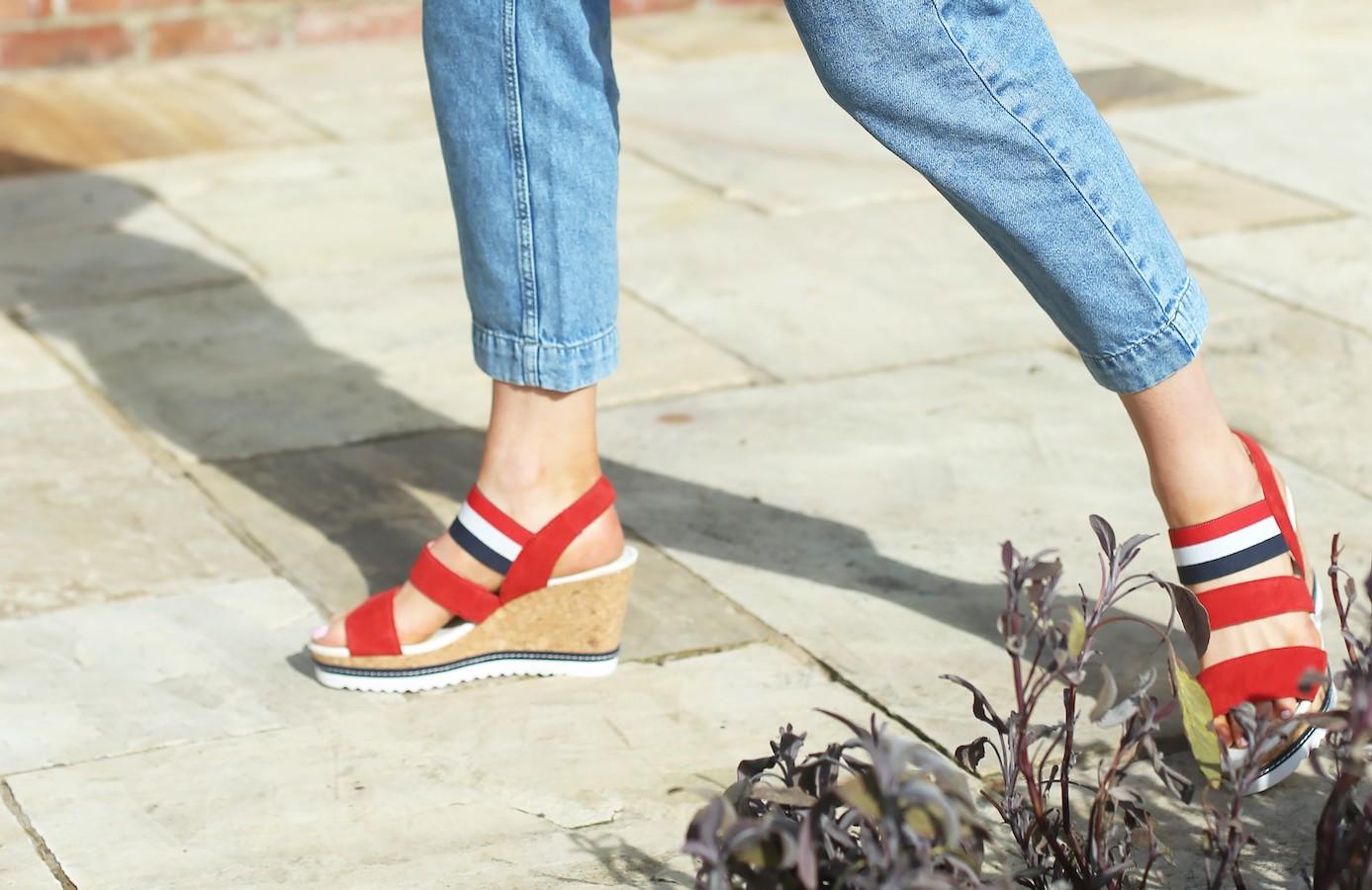 Gabor Worship Ladies Wedge Heel Sandals