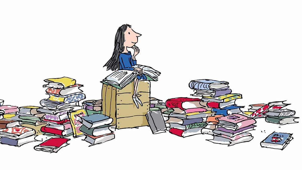 Roald Dahl's Matilda reading books